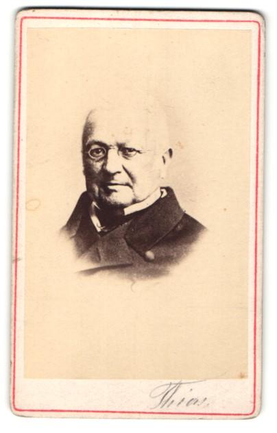 Fotografie Intern. Phot. Kunst-Institut, Portrait Adolphe Thiers, französ. Politiker