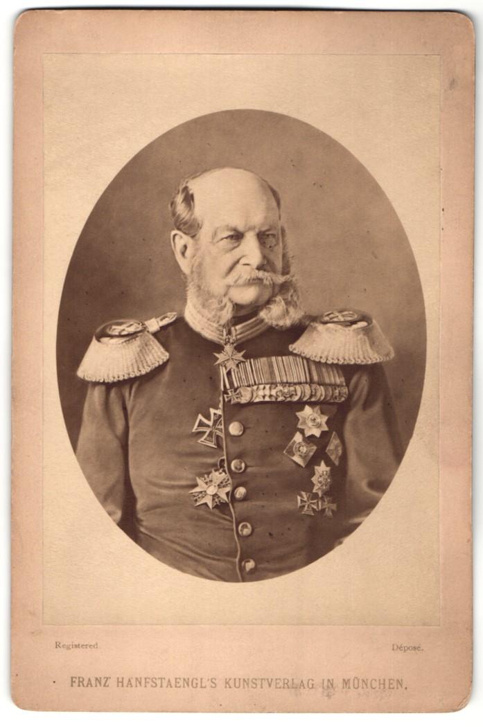 Fotografie Franz Hanfstaengl, München, Portrait Kaiser Wilhelm I.