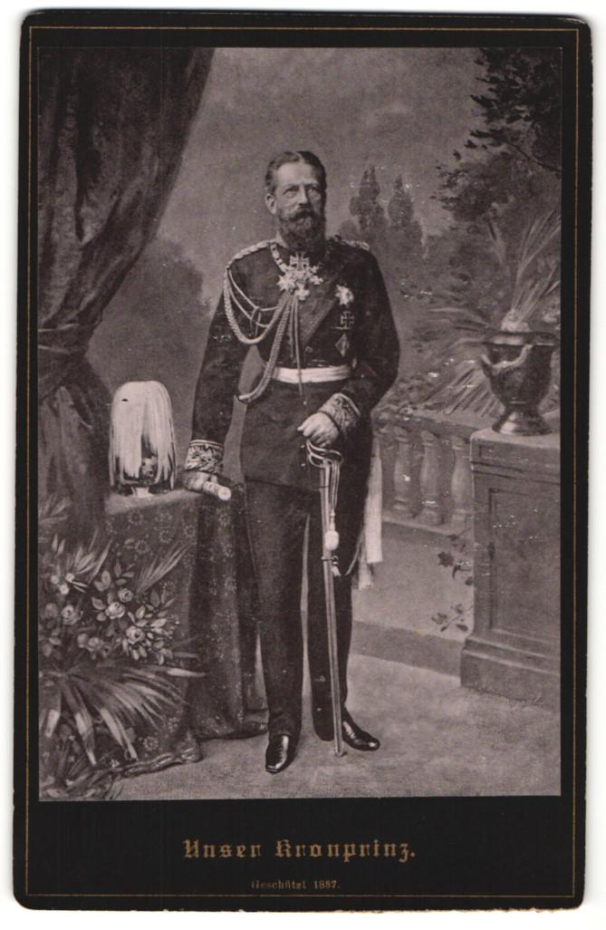 Fotografie Portrait Kaiser Friedrich III.