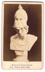 Fotografie Büste aus dem antiken Rom, Minerva Giustiniani