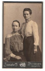 Fotografie Samson & Co., Duisburg, Portrait zwei bürgerliche Frauen