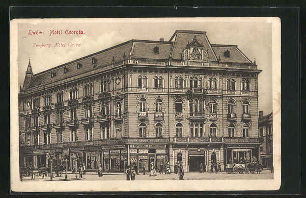 AK Lwow / Lemberg, Ansicht vom Hotel Georg