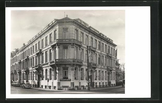 AK Amsterdam, Familie Hotel Museum Pension, P. C. Hooftstraat hoek Stadhouderskade