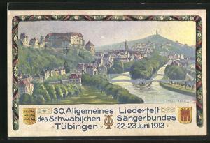 Künstler-AK Tübingen, 30. Allgemeines Liederfest des Schwäbischen Sängerbundes 1913