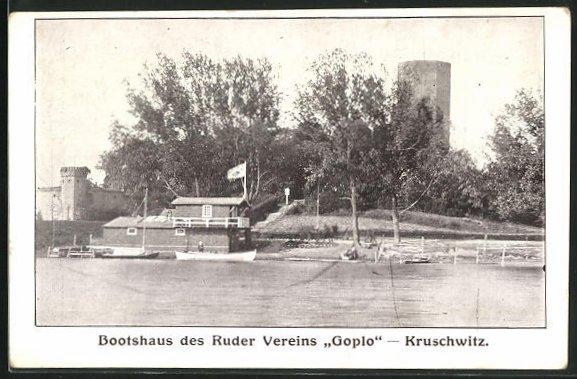 AK Kruschwitz, Bootshaus des Ruder-Vereins Goplo