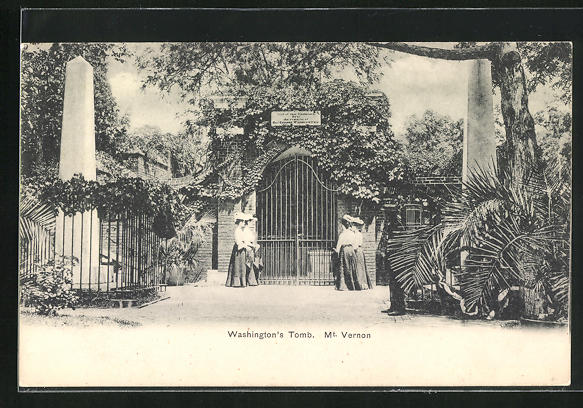 AK Mt. Vernon, Washington`s Tomb, Motiv der Grabstätte 0