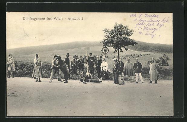 AK Wich-Arracourt, Bärenführer an der Reichsgrenze