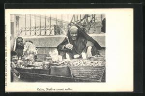 AK Cairo / Kairo, Native sweet seller, Süsswarenhändler