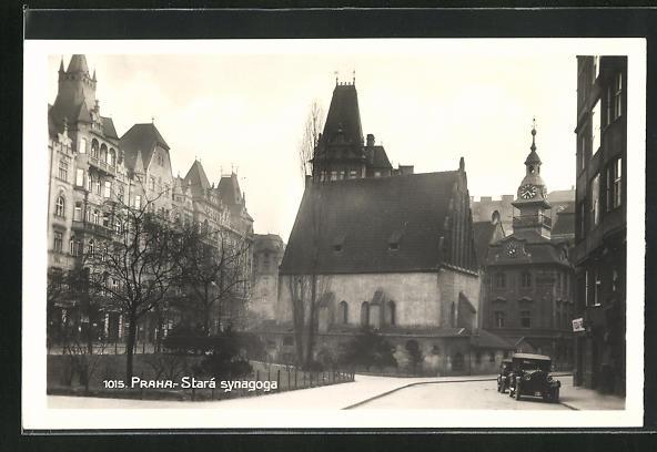 AK Prag, Stará Synagoga, Altneue Synagoge, Judaika