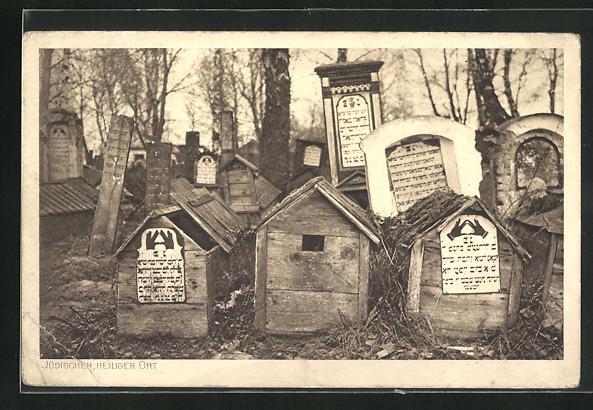 AK Jüdischer, heiliger Ort, Friedhof, Judaika