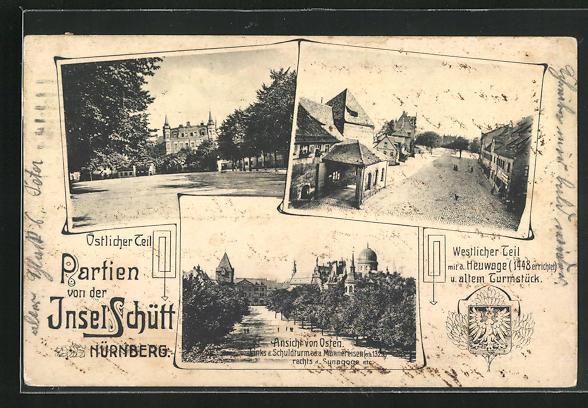 AK Nürnberg, Partien von der Insel Schütt, Synagoge