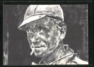 Künstler-AK Aral, Das Ruhrgebiet, Der Kumpel holt die Kohle..., Bergmann