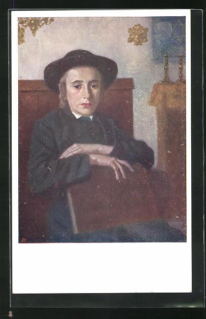 AK Junger Mann in der Synagoge