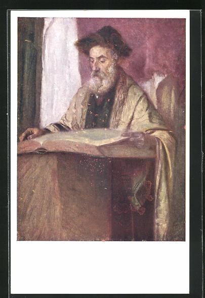 AK Alter Mann liest den Talmud in der Synagoge