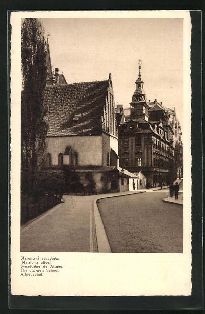 AK Prag, Altneuschul in der Josefstadt, Synagoge