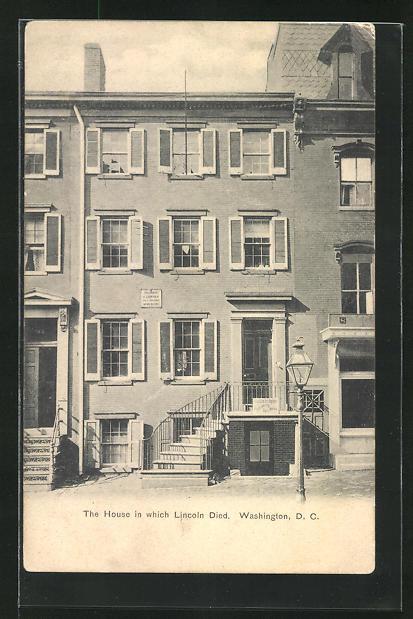 AK Washington, D. C., Haus, in dem der US-amerikanische Präsident Lincoln starb