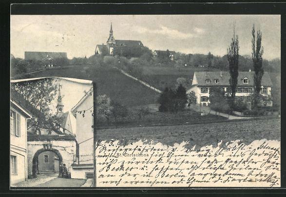 AK Basel, St. Chrischona, Teilansicht