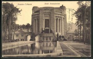 AK Dresden-Tolkewitz, Städt. Krematorium