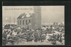 AK München-Sendling, Szene aus der Sendlinger Bauernschlacht 1705