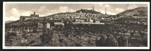 Klapp-AK Assisi, Panorama generale, Totalansicht der Stadt