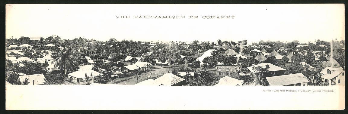Klapp-AK Conakry, Teilansicht der Stadt 0