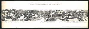 Klapp-AK Conakry, Panoramablick über die Dächer der Stadt