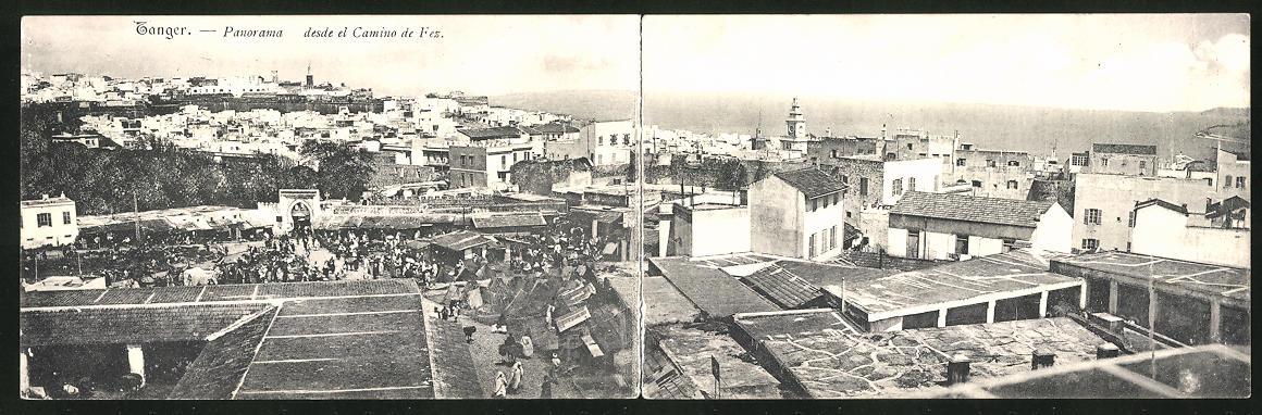 Klapp-AK Tanger, Desde el Camino de Fez, Teilansicht der Stadt 0
