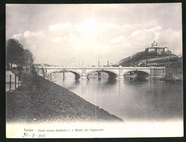 Klapp-AK Torino, Ponte nuovo Umberto I. e Monte dei Cappuccini