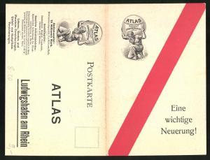 Klapp-AK Ludwigshafen am Rhein, Atlas Deutsche Lebensversicherungs-Gesellschaft, Risiko-Umtausch-Police