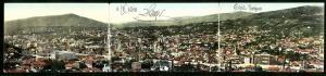 Klapp-AK Sarajewo, Panoramablick auf die Stadt