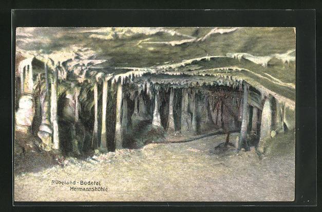Relief-AK Rübeland / Bodetal, Grotte in der Hermannshöhle
