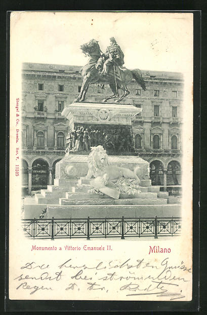Relief-AK Milano, Monumento a Vittorio Emanuele II.