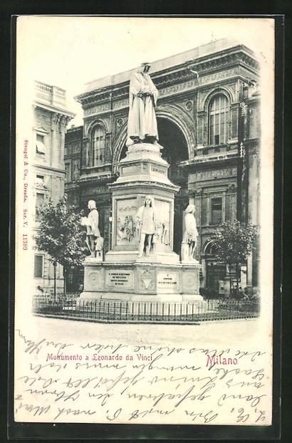 Relief-AK Milano, Monumento a Leonardo da Vinci