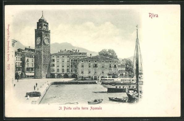 Relief-AK Riva, Il Porto colla torre Aponale