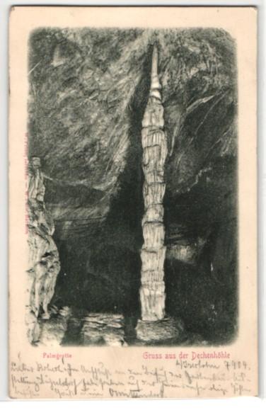 Relief-AK Ansichten aus der Dechenhöhle, Palmgrotte