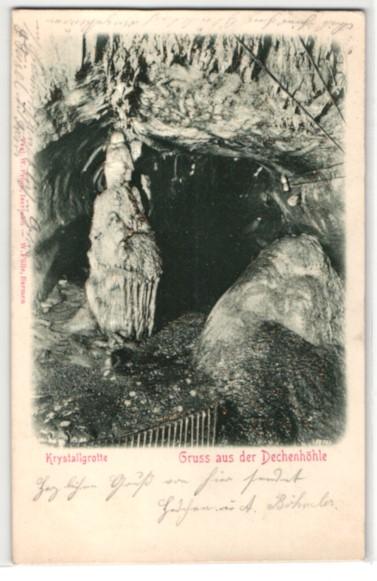Relief-AK Ansichten aus der Dechenhöhle, Krystallgrotte