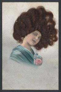 Echt-Haar-AK junge Dame mit vollem Haar