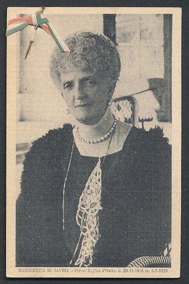 AK Margherita di Savoia, Königin von Italien, Nadel mit Schleife