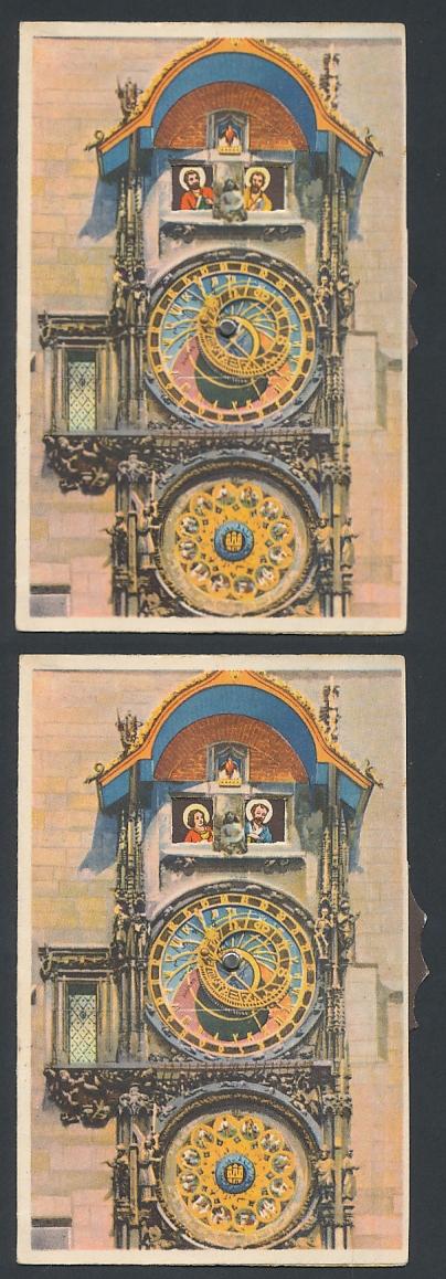 Mechanische-AK Prag, Astronomische Kunstuhr, Stellrad zum verändern des Motivs
