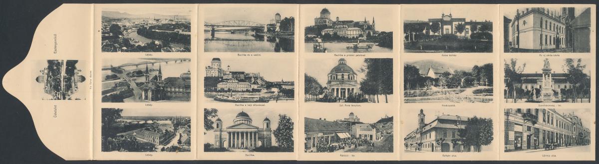 Klapp-AK Esztergom, Bazilika, Rákóczi-tér, Battyán utca