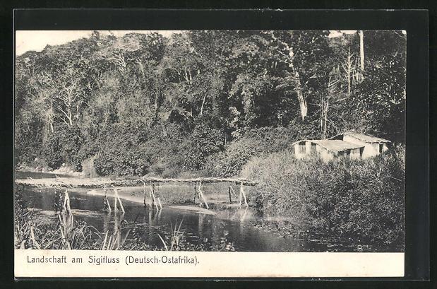AK Deutsch-Ostafrika, Landschaft am Sigifluss