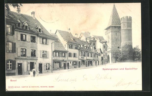 AK Basel, Spalengraben und Spalenthor