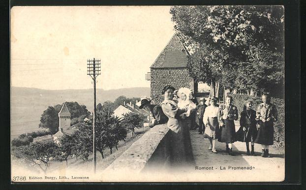 AK Romont, La Promenade, Ausblick