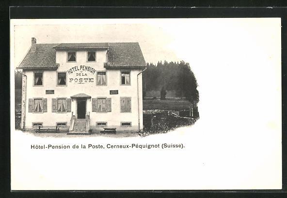 AK Cerneux-Péquignot, Hôtel-Pension de la Poste