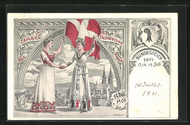AK Basel, Bundesfeier 1501 - 1901