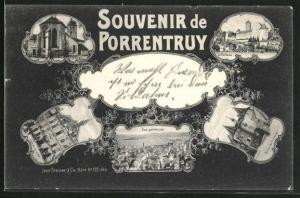 AK Porrentruy, Le Chateau, Eglise, Porte de France