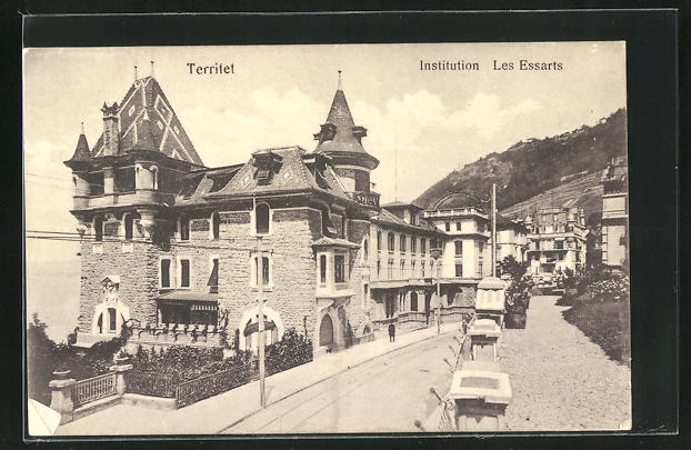 AK Territet, Ortspartie mit Institution Les Essarts