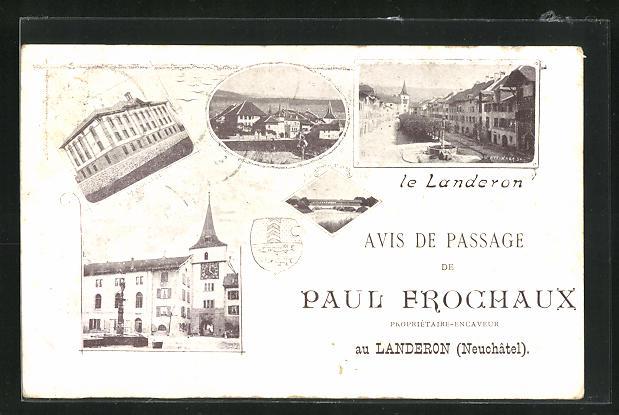 AK Landeron, Avis de Passage de Paul Frochaux, Le College