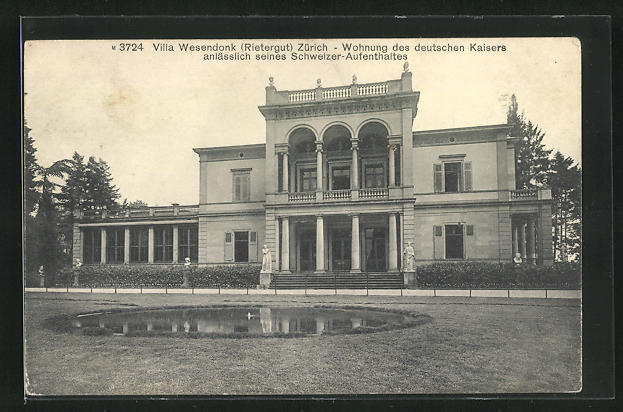 AK Zürich, Villa Wesendonk, Wohnung des deutschen Kaisers anlässlich seines Schweizer-Aufenthaltes