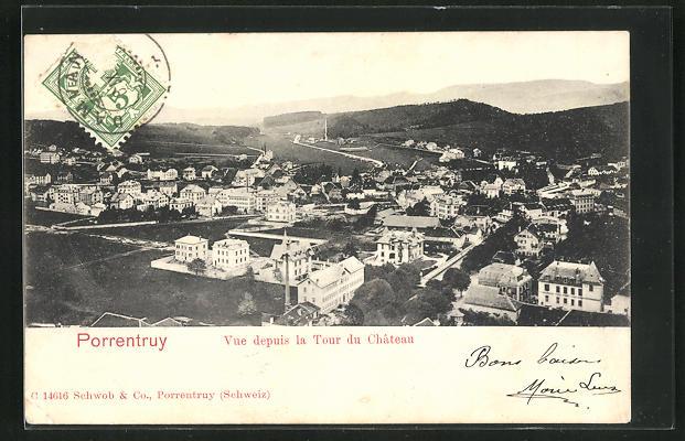 AK Porrentruy, Vue depuis la Tour du Chateau